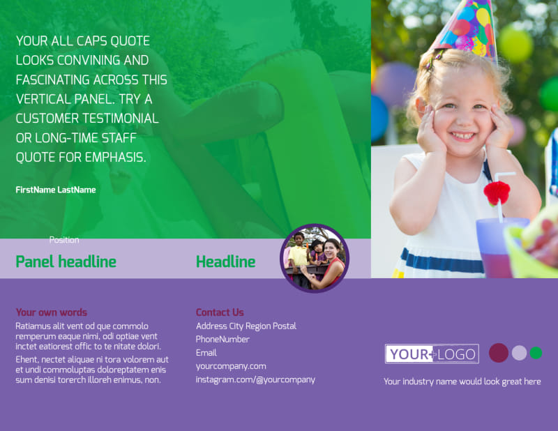 Fun Time School Party Brochure Template Preview 2