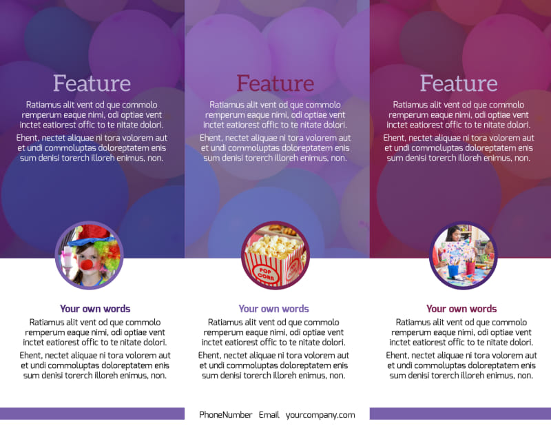 Fun Time School Party Brochure Template Preview 3