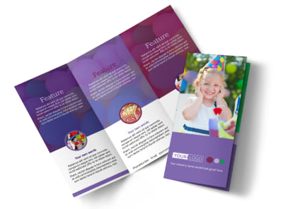 Fun Time School Party Tri-Fold Brochure Template preview