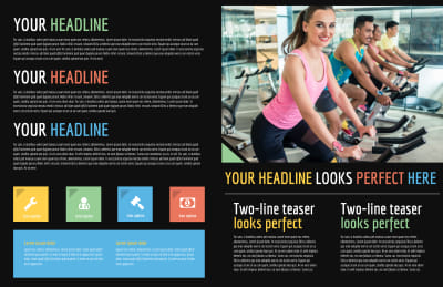 Top Fitness Center Brochure Template Preview 2