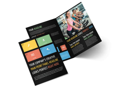 Top Fitness Center Bi-Fold Brochure Template 2