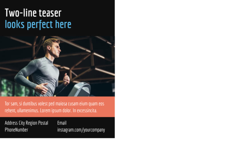 Top Fitness Center Postcard Template Preview 3