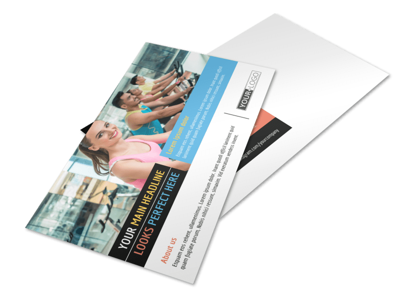 Top Fitness Center Postcard Template Preview 1