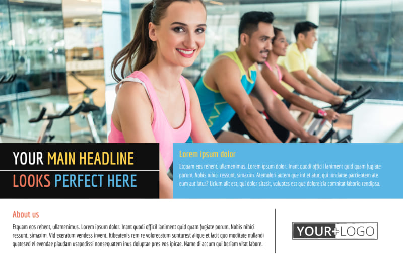 Top Fitness Center Postcard Template Preview 2