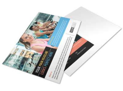 Top Fitness Center Postcard Template