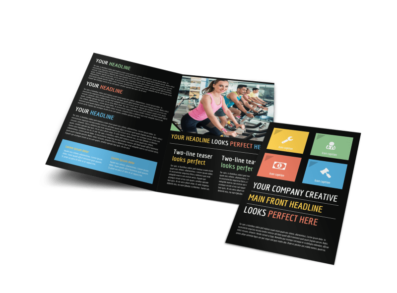 Top Fitness Center Brochure Template Preview 1