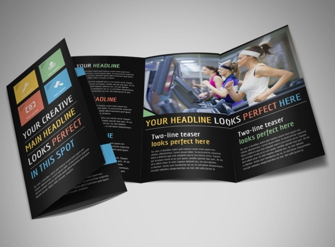 Top Fitness Center Brochure Template – Fitness Brochure Template
