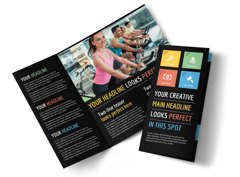 Top fitness center brochure template mycreativeshop for Gym brochure template