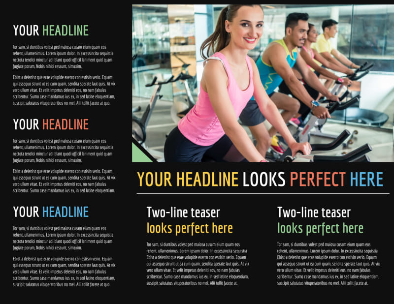 Top Fitness Center Brochure Template Preview 3