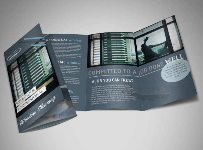 Top Fitness Center Tri-Fold Brochure Template