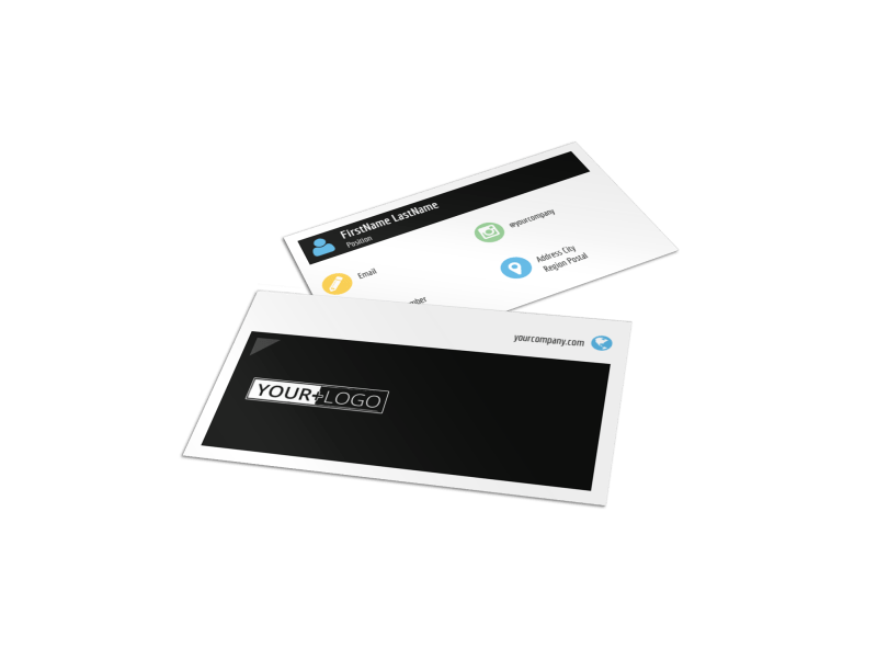 Top Fitness Center Business Card Template Preview 1
