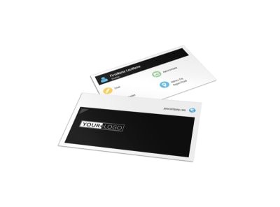 Top Fitness Center Business Card Template preview