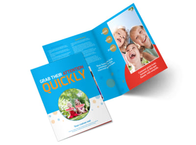 Just For Kids Health Bi-Fold Brochure Template 2
