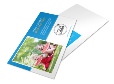 Just For Kids Health Postcard Template 2 preview
