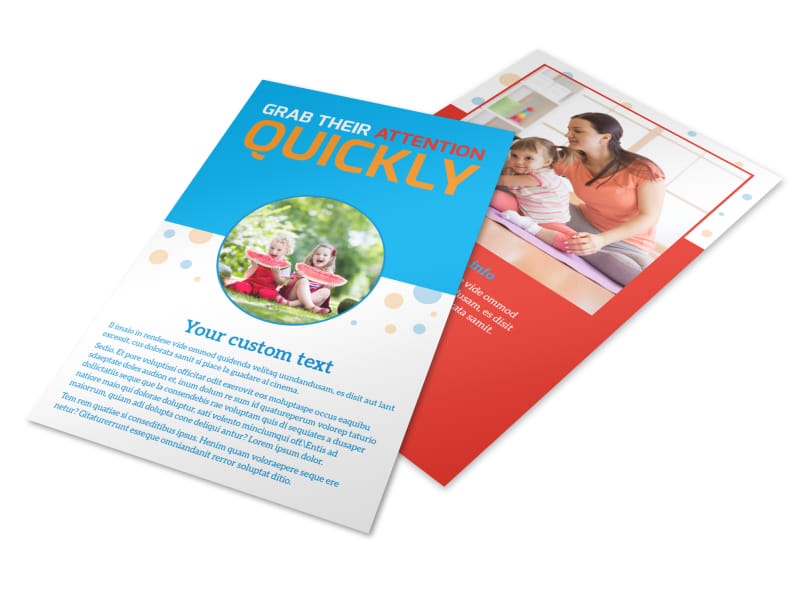 Just For Kids Health Flyer Template 3