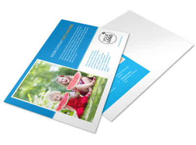 Just For Kids Health Postcard Template preview