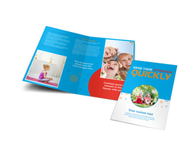Just For Kids Health Bi-Fold Brochure Template