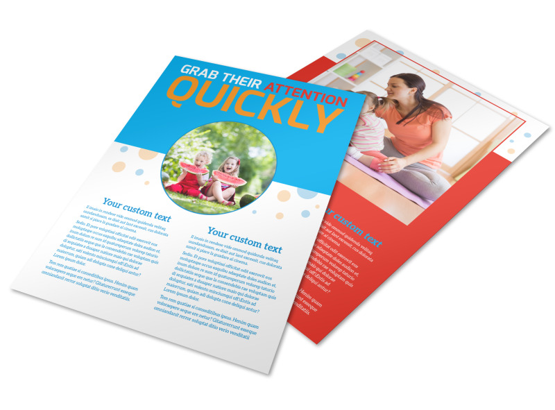 Just For Kids Health Flyer Template
