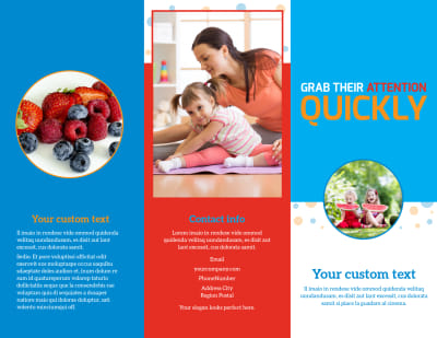 Just For Kids Health Brochure Template Preview 1