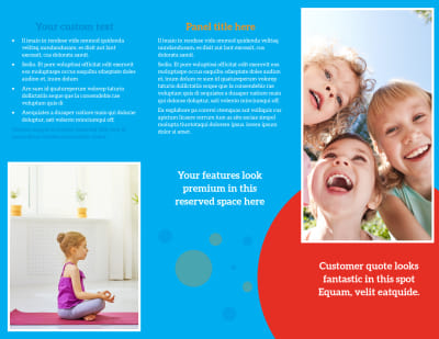 Just For Kids Health Brochure Template Preview 2