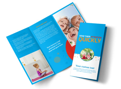 Just For Kids Health Tri-Fold Brochure Template