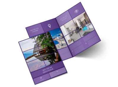 Luxury Villa Rental Bi-Fold Brochure Template 2