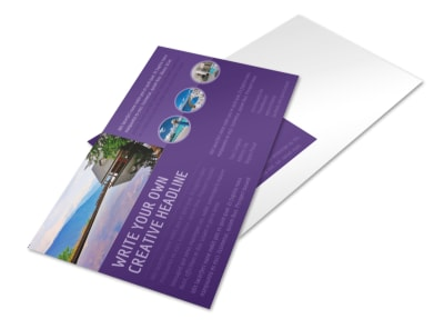 Luxury Villa Rental Postcard Template 2