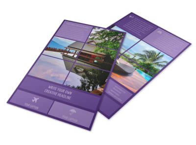 Luxury Villa Rental Flyer Template 3