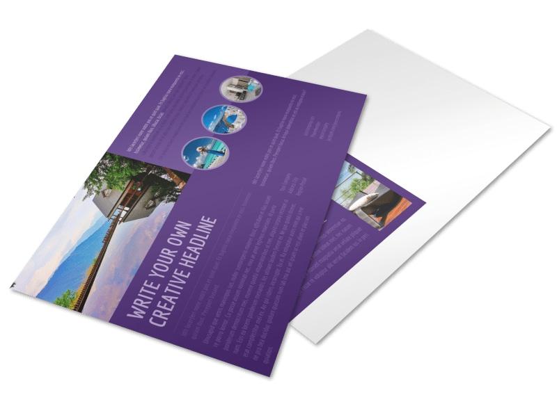 Luxury Villa Rental Postcard Template