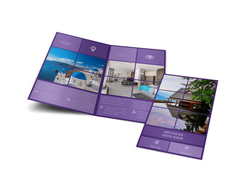 Luxury Villa Rental Bi-Fold Brochure Template