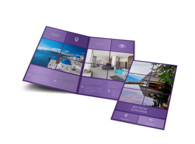 Luxury Villa Rental Bi-Fold Brochure Template preview