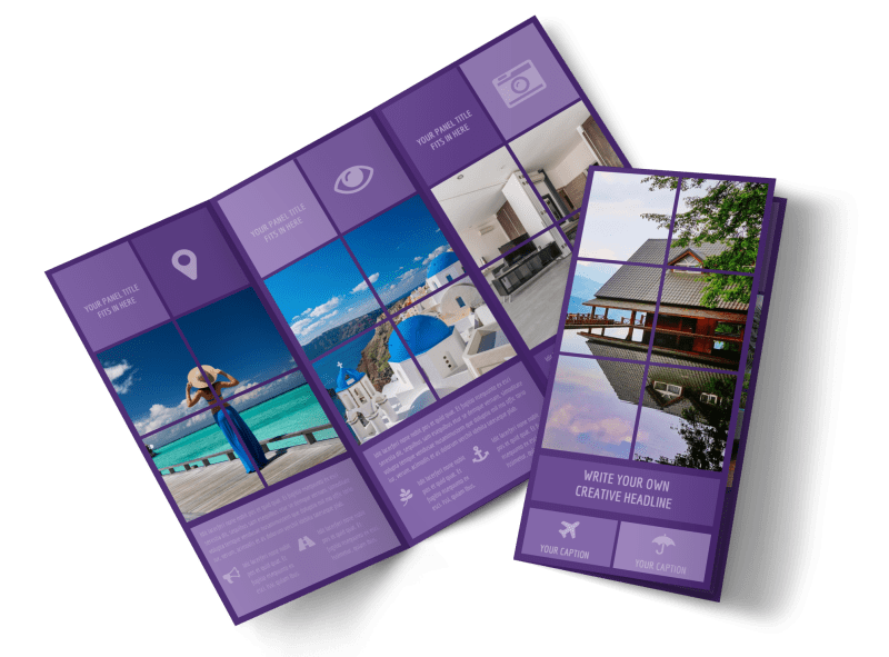 Luxury Villa Rental Brochure Template Preview 1