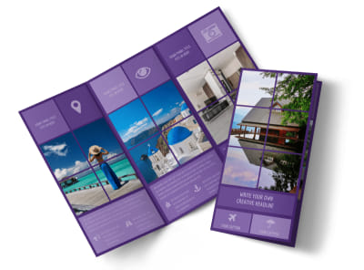 Luxury Villa Rental Tri-Fold Brochure Template preview
