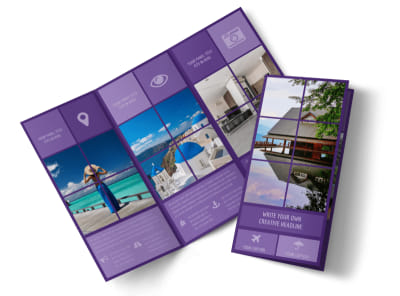 Luxury Villa Rental Tri-Fold Brochure Template