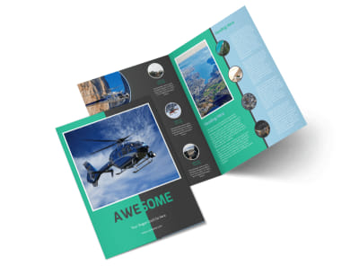 Fly High Air Travel Bi-Fold Brochure Template 2