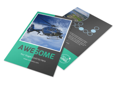 Fly High Air Travel Flyer Template 3