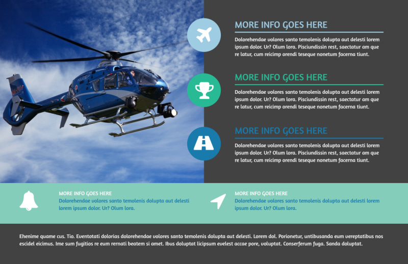 Scenic Helicopter Tours Postcard Template Preview 2