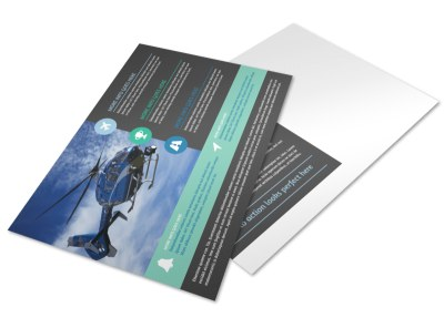 Fly High Air Travel Postcard Template preview
