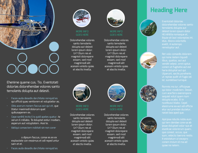 Scenic Helicopter Tours Brochure Template Preview 3