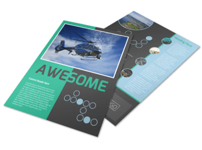 Fly High Air Travel Flyer Template preview