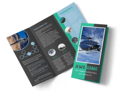Fly High Air Travel Tri-Fold Brochure Template preview
