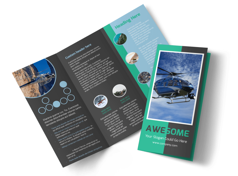 Scenic Helicopter Tours Brochure Template Preview 1