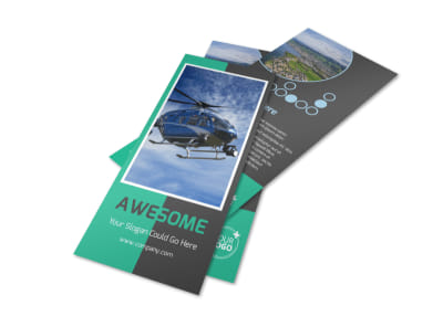 Fly High Air Travel Flyer Template 2