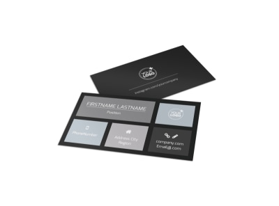 Generic Business Card Template 11059