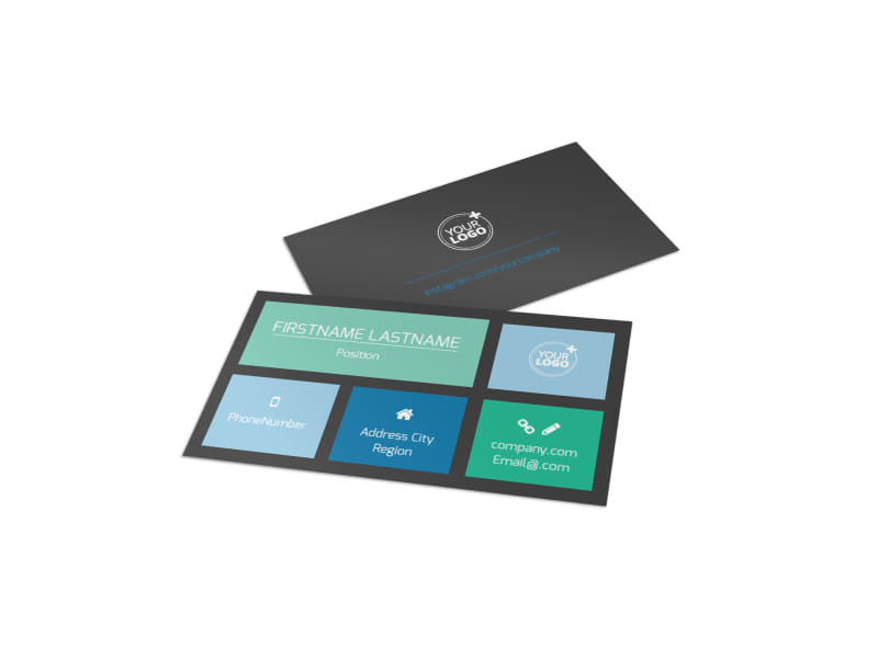 Fly High Air Travel Business Card Template