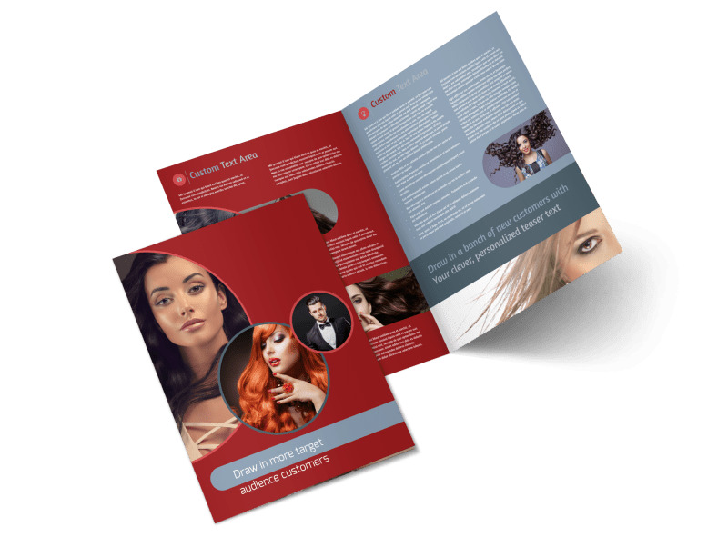 fancy hair salon brochure template mycreativeshop