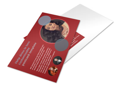 Fancy Hair Salon Postcard Template 2 preview