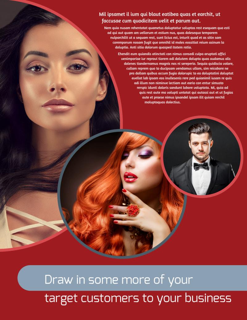 Fancy Hair Salon Flyer Template Preview 2