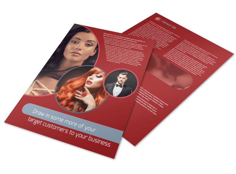 Fancy Hair Salon Flyer Template Preview 1
