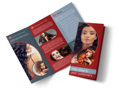 Fancy Hair Salon Tri-Fold Brochure Template preview